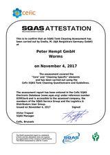 Bild: SQAS-Beurteilung Cleaning von 2017