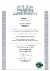 Bild: GMP+ -Zertifikat von 2019