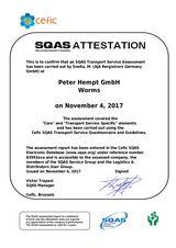 Bild: SQAS-Beurteilung Transport von 2017