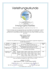 Bild: Entsorgungsfachbetrieb Zertifikat von 2020